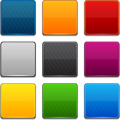App button icons colored vector set 15