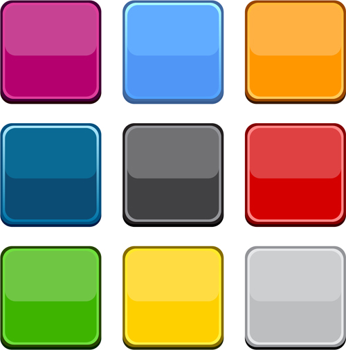 App button icons colored vector set 16