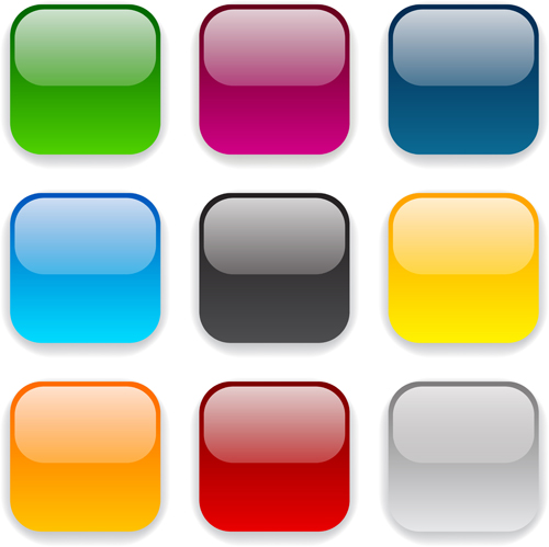 App button icons colored vector set 17