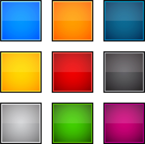 App button icons colored vector set 18