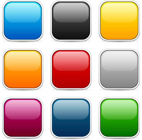 App button icons colored vector set 19