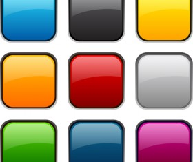 App button icons colored vector set 20