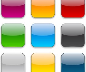 App button icons colored vector set 21