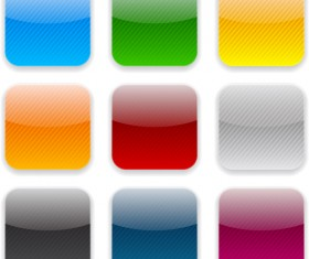 App button icons colored vector set 23