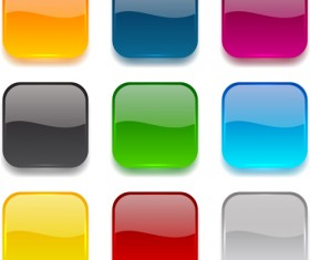App button icons colored vector set 25