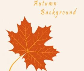 Autumn leaves vintage art background vector 02