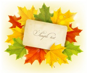 Beautiful autumn leaves background art vectors 01