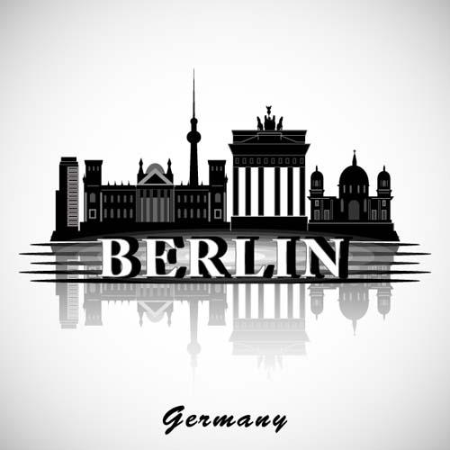 berlin city background vector vector background free download. Black Bedroom Furniture Sets. Home Design Ideas