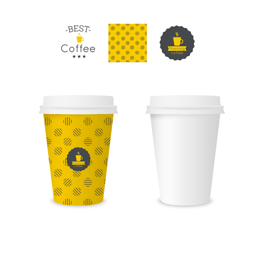 best coffee paper cup template vector material 04 free download