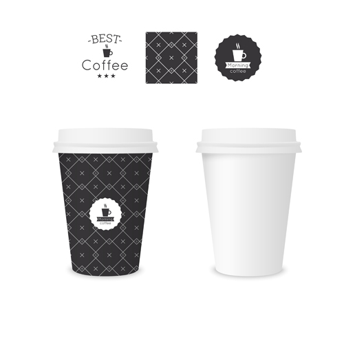 best coffee paper cup template vector material 05 free download