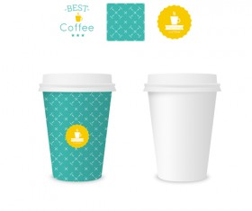 Best coffee paper cup template vector material 07