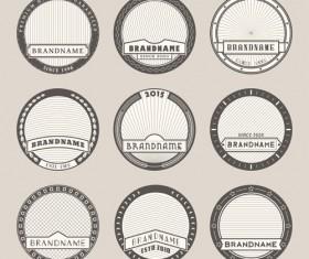 Blank laurel wreath labels vintage vector 01