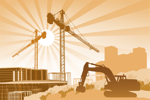 building construction background vectors 02
