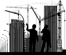 Building construction background vectors 05