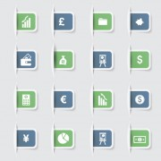 Link toBusiness notes stickers icons vectors set 02