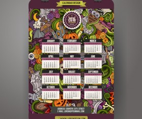 Calendar 2016 decorative pattern creative vector 02