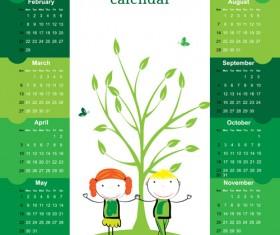 Calendar 2016 kids cartoon object vector 02