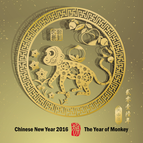 ... new year 2016 monkey design vector 01 download name chinese new year