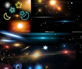 Colored Light effects psd background 01