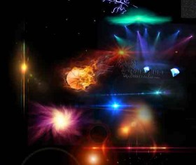 Colored Light effects psd background 02