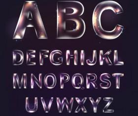 Colored Transparent alphabets vector 02