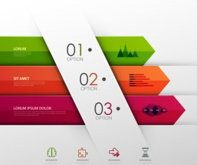 Colored banner infographics elements vector 03