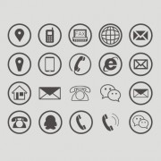 Communications circular icons free vector