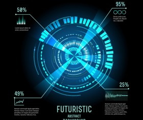 Concept futuristic Interfaces template background vector 01