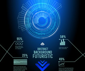 Concept futuristic Interfaces template background vector 02
