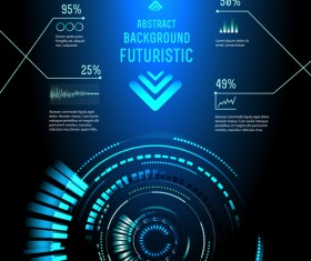 Concept futuristic Interfaces template background vector 03