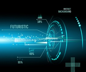 Concept futuristic Interfaces template background vector 04