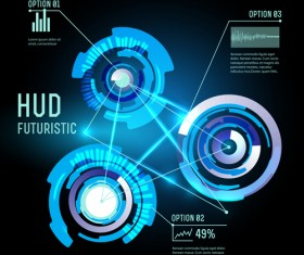 Concept futuristic Interfaces template background vector 05