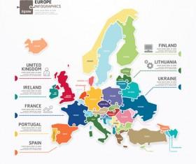 Creative europe infographics vector
