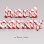 Cute candy wordart psd material