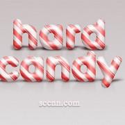 Cute candy wordart psd material