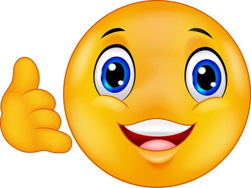 Cute Smile Emoticon Icons Vectors Set 02 Emoticons Icons