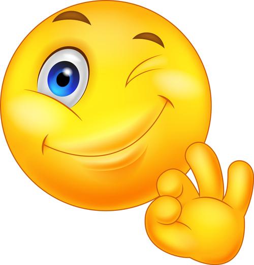 Cute Smile Emoticon Icons Vectors Set 07 Free Download