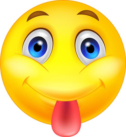 Cute smile emoticon icons vectors set 09 free download - Emoticone kawaii ...