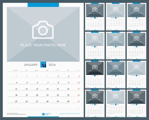 Desk Calendar Photography : Desk calendar with your photo vector