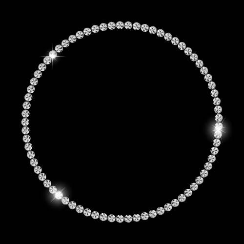 Diamond jewelry frame shining vector 02 - Vector Frames ...