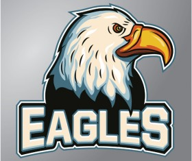 Eagles logo vector material 02