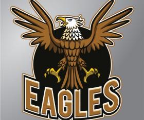 Eagles logo vector material 03
