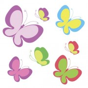 Link toElegant butterflies background art vectors 03