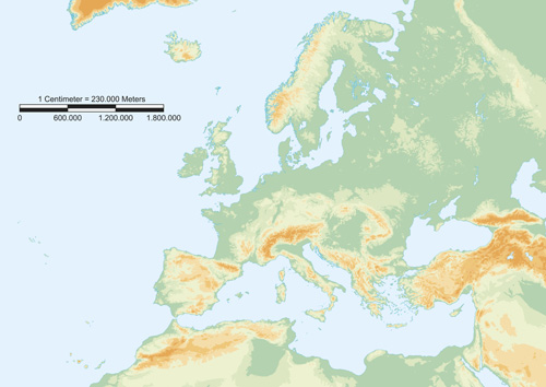 Europe map vectors design 05