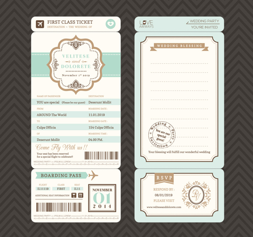 ticket invitation template free download .
