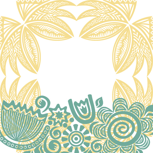 Floral tiling pattern vintage vector set 01