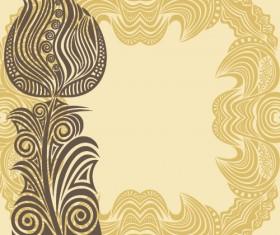 Floral tiling pattern vintage vector set 02