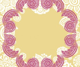 Floral tiling pattern vintage vector set 03