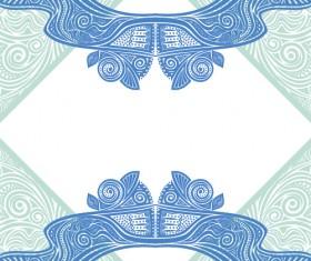 Floral tiling pattern vintage vector set 04