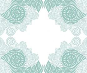 Floral tiling pattern vintage vector set 05